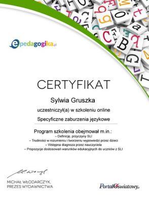 certyfikat-specyficzne-zaburzenia-jzykowe